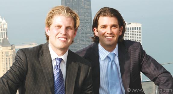 Eric Trump, left, and Donald Trump Jr